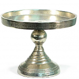 Aluminum Pedestal Cake Stand Small