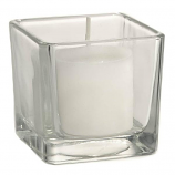 Square Votive Candle Holder Clear
