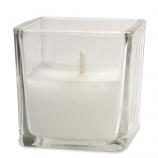 Square Cup White Votive