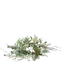 Succulent Foliage Candle Ring 4.5 Inch