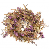 Lavender Wildflower Candle Ring 6 Inch