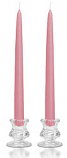 12 Inch Dusty Pink Taper Candles