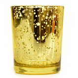 Speckled Gold Straight Votive Cup