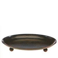 5 Inch Ball Footed Metal Candle Plate