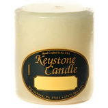 3 x 3 Unscented Ivory Pillar Candles