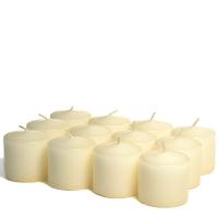 288 Case Ivory Unscented Votive Candles Bulk 10hr