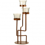 3 Tier Copper Tea Light Holder with Cups
