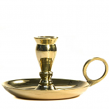 Mini Brass Chamberstick 2 Inch