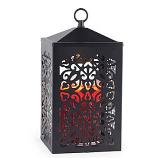 Scroll Lantern Candle Warmer Black