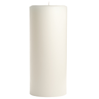 4 x 9 Unscented White Pillar Candles