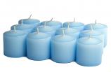 Unscented Light blue Votive Candles 15 Hour