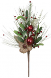 Flower Pine Bell Red Pick 19 Inch