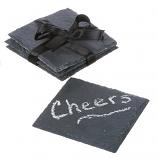 Chalkboard Coaster 4 Inch Set