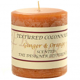 Rustic Ginger and Orange 3 x 3 Pillar Candles