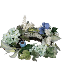 Hydrangea Petunia Candle Ring 4.5 Inch