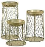Chicken Wire Candle Holder Set