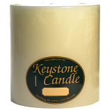 6 x 6 Unscented Ivory Pillar Candles