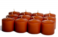 Unscented Terracotta Votive Candles 15 Hour