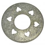 Silver Heart Jar Capper