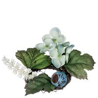 Hydrangea Petunia Candle Ring 1.5 Inch