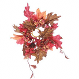 Fall Leaf and Berries 1 Inch Candle Ring