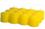 Unscented Yellow Votive Candles 15 Hour