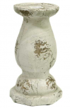 Distressed Ceramic Candle Holders Tall