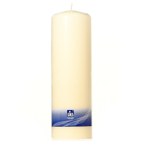 Unscented Ivory 3 x 9 Pillar Candles