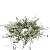 Succulent Foliage Candle Ring 6.5 Inch
