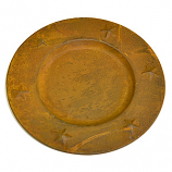 Tin Charger Plates 6 Inch Brown