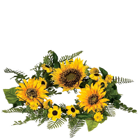 Sunflower Candle Ring 6.5 Inch