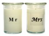 2 Pack Mr Mrs Soy Jar Candles 12 oz
