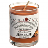 Amber Romance Soy Votive Candle in Glass