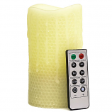 Honeycomb 3 x 6 Remote Control Pillar Candles