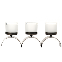 World Metal Glass Votive Candle Holder