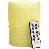 Honeycomb 4 x 6 Remote Control Pillar Candles