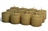 Unscented Parchment Votive Candles 10 Hour
