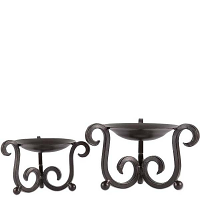Candelaria Pillar Holders Set of 2