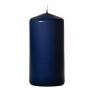 Navy 3 x 6 Unscented Pillar Candles