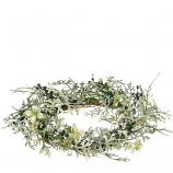 Dusty Miller 6.5 Inch Candle Ring