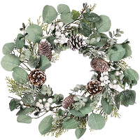Berry Foliage Candle Rings 6.5 Inch