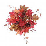 Fall Leaf and Berries 2 Inch Candle Ring