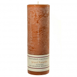 Textured Spiced Pumpkin 3 x 9 Pillar Candles