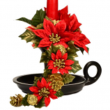 Red Poinsettia and Gold 1 Inch Climber