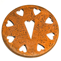 Rust Heart Jar Capper