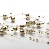 Pearl Metallic Gold Beaded Garland